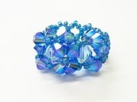 Blue Sky Crystal Beadwork Ring Kit with SWAROVSKI® ELEMENTS
